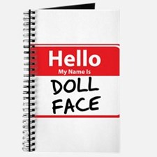 Hello My Name is Doll Face Journal