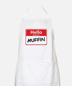 Hello My Name is Muffin BBQ Apron