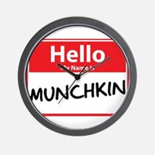 Hello My Name is Munchkin Wall Clock