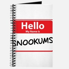 Hello My Name is Snookums Journal