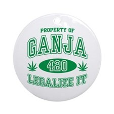 Ganja Legalize It Ornament (Round)