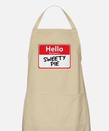 Hello My Name is Sweety Pie BBQ Apron