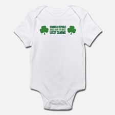 Dominican Republic lucky char Infant Bodysuit