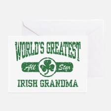 World's Greatest Irish Grandma Greeting Cards (Pk