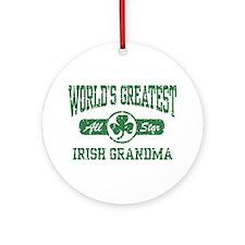 World's Greatest Irish Grandma Ornament (Round)