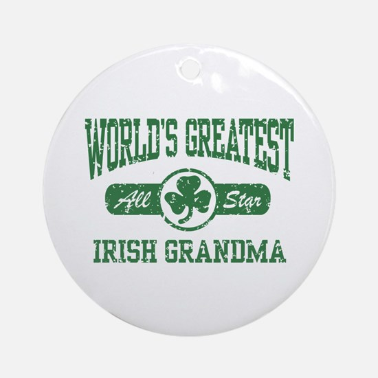 World's Greatest Irish Grandma Ornament (Round)