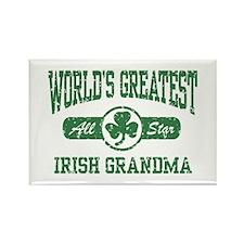 World's Greatest Irish Grandma Rectangle Magnet
