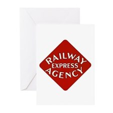 Railway Express Color Logo Greeting Cards (Package
