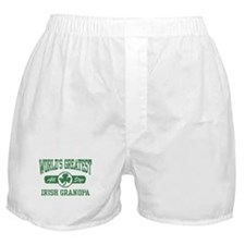 World's Greatest Irish Grandpa Boxer Shorts