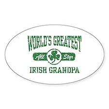 World's Greatest Irish Grandpa Oval Decal