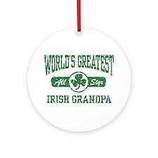 World's Greatest Irish Grandpa Ornament (Round)
