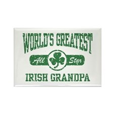 World's Greatest Irish Grandpa Rectangle Magnet
