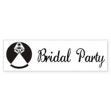 Bridal Party Bumper Bumper Sticker