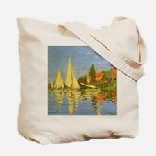 Claude Monet Regatta at Argenteuil Tote Bag
