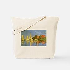 Claude Monet Regatta at Argenteuil Tote Bag