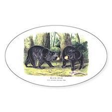 Audubon Black Bear Animal Oval Decal