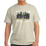 Audubon Black Bear Animal (Front) Light T-Shirt
