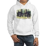 Audubon Black Bear Animal Hooded Sweatshirt