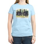 Audubon Black Bear Animal (Front) Women's Light T-