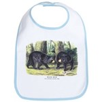 Audubon Black Bear Animal Bib