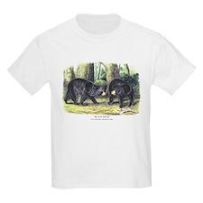 Audubon Black Bear Animal (Front) T-Shirt