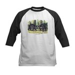 Audubon Black Bear Animal Kids Baseball Jersey