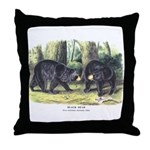 Audubon Black Bear Animal Throw Pillow