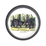 Audubon Black Bear Animal Wall Clock