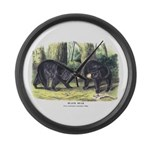 Audubon Black Bear Animal Large Wall Clock