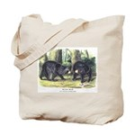 Audubon Black Bear Animal Tote Bag
