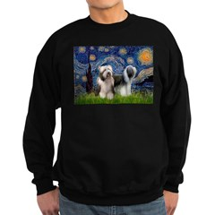 Starry / 2 Bearded Collies Sweatshirt