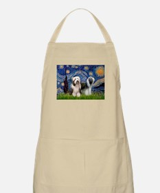 Starry / 2 Bearded Collies Apron