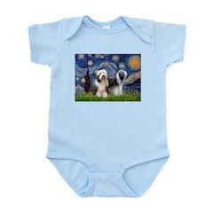 Starry / 2 Bearded Collies Infant Bodysuit