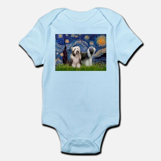 Starry / 2 Bearded Collies Infant Bodysuit