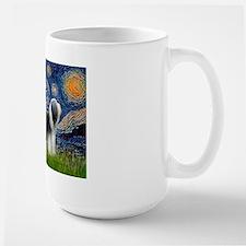 Starry / 2 Bearded Collies Large Mug