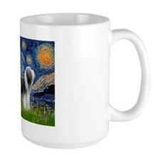 Starry / 2 Bearded Collies Mug