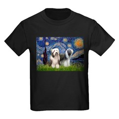 Starry / 2 Bearded Collies T