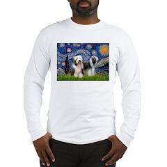Starry / 2 Bearded Collies Long Sleeve T-Shirt