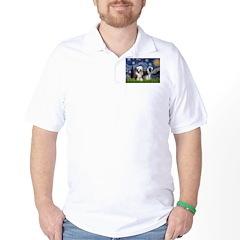 Starry / 2 Bearded Collies T-Shirt