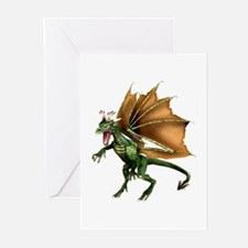 Green Dragon Greeting Cards (Pk of 10)