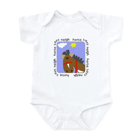 Horse Says Neigh Infant Bodysuit