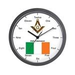 Irish Masons Wall Clock