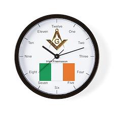 Irish Masons Wall Clock