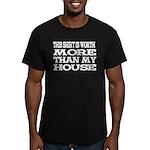 Shirt > House Men's Black/White Fitted T