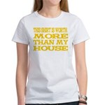 Shirt > House Women's White/Gold T-Shirt