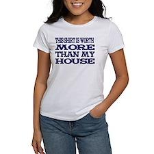 Shirt > House Women's White/Blue T-Shirt