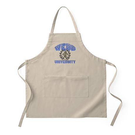Webb Last Name University BBQ Apron