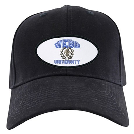 Webb Last Name University Black Cap