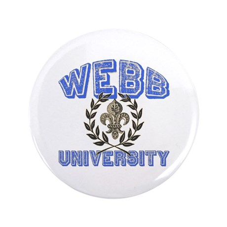 "Webb Last Name University 3.5"" Button (100 pack)"