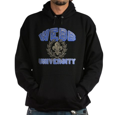 Webb Last Name University Hoodie (dark)